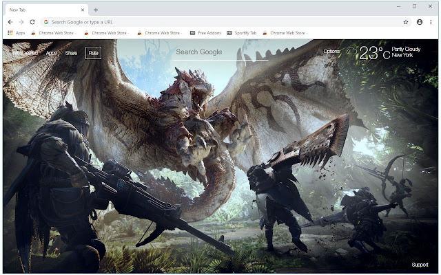 Monster Hunter World HD Wallpapers New Tab
