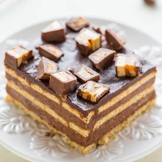 Chocolate Candy Bar Icebox Cake.