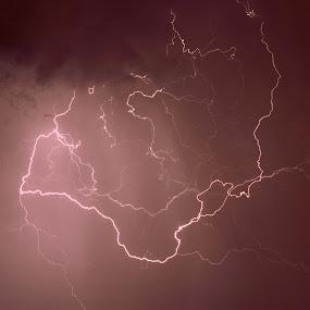 Ligtning by Tahir Sultan - Landscapes Weather ( #lightning, #nikon )