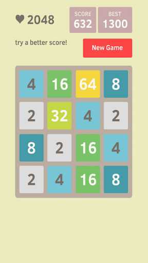 Play 2048 new for Android