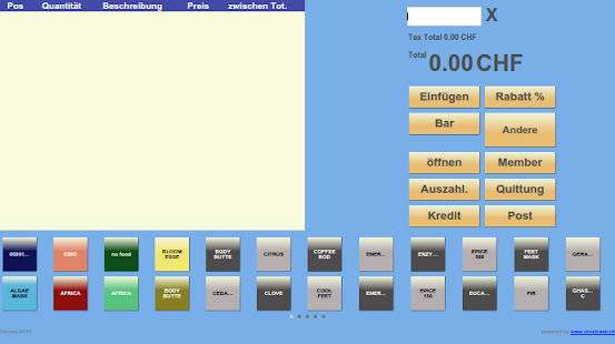 cloud cashregister free- screenshot thumbnail