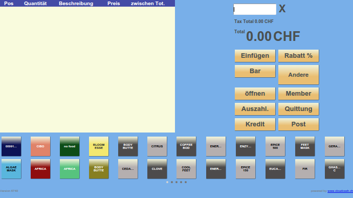 cloud cashregister free- screenshot