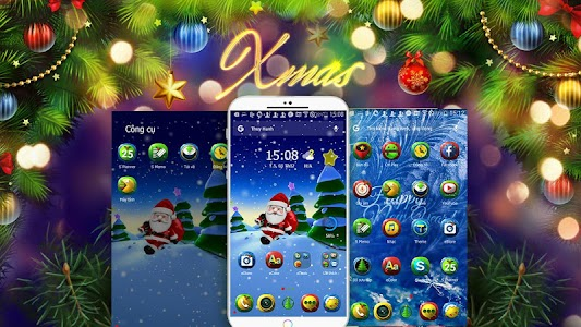 X-mas Santa eTheme Launcher screenshot 0