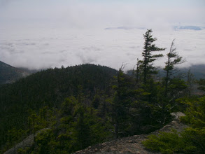 Photo: We were above a sea of clouds.