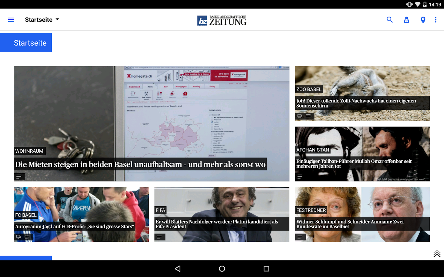 bz Basellandschaftliche News- screenshot