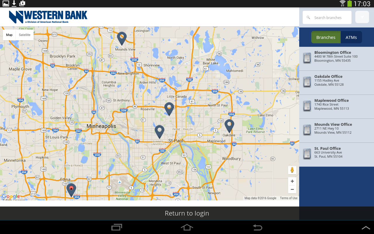 Western Bank Mobile Banking- screenshot