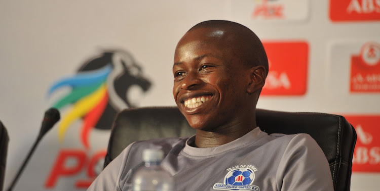 Siphesihle Ndlovu of Maritzburg United during the Player and Coach of the Month Awards on February 19 2018 at PSL Offices.
