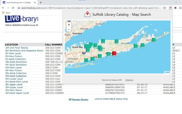 Suffolk Library Catalog - Map View