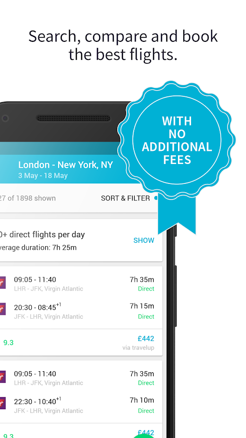 Skyscanner - Flights, Hotels and Car Hire – snímka obrazovky