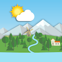 Animated Landscape Weather Live Wallpaper FREE icon