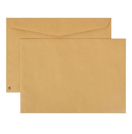 Kuvert C4 brun fukthäft 50/fp