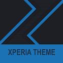 Xperia Theme - Dark Paper Blue icon