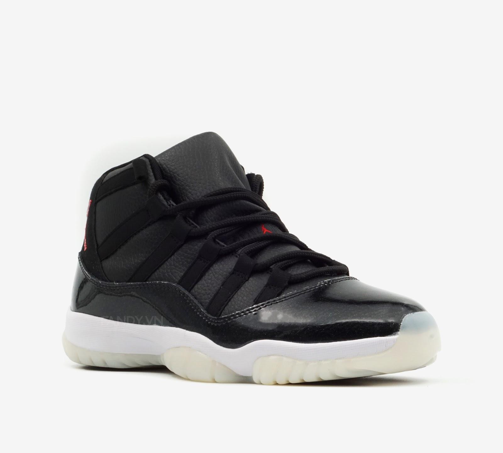 "Giày Nike Air Jordan 11 Retro ""72-10"" Black/Gym Red-White"