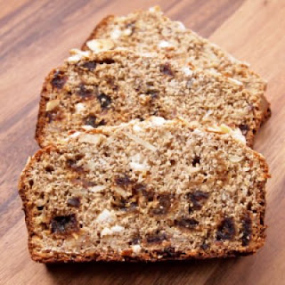 Honey Vanilla Almond Bread with Dates & Goat Cheese
