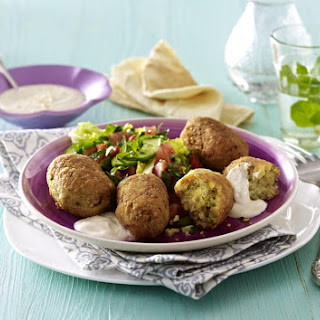 Falafel with Tahini Dip and Salad