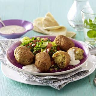 Falafel with Tahini Dip and Salad.