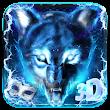 3D Blue fire Ice wolf launcher theme🐺