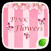 Pink Flowers GO Keyboard Theme