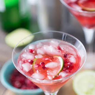 Pomegranate Gin Fizz.