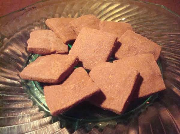 Cocoa Shortbread Diamonds Recipe