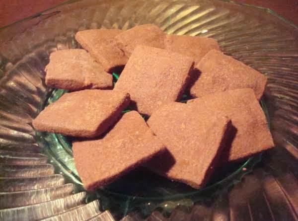 Cocoa Shortbread Diamonds
