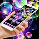 Colorful Bubble Black Theme icon
