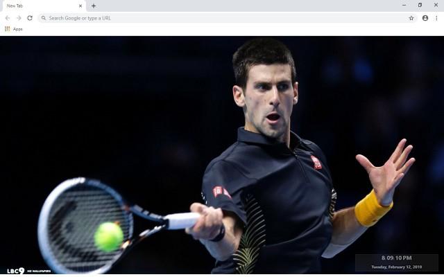Novak Djokovic New Tab