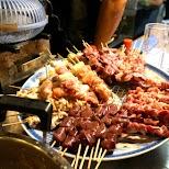 yakitori meat skewers in Shinjuku, memory lane in Tokyo, Tokyo, Japan