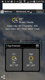 NBC 12 First Warning Weather- screenshot thumbnail