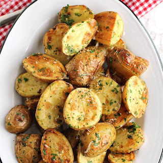 Roasted New Potatoes With Parmesan And Fresh Herbs