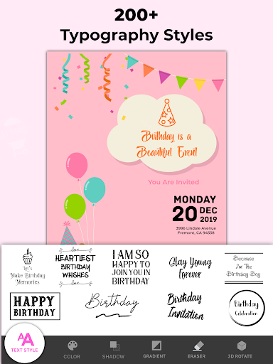 Invitation Maker Free, Paperless Card Creator android2mod screenshots 19