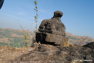Photo: Nandi-ling on Chandragad....