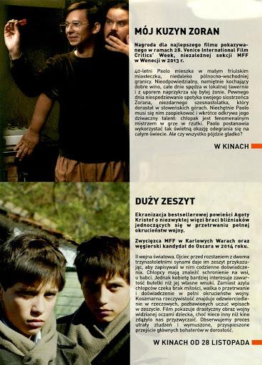 Tył ulotki filmu 'Mój Kuzyn Zoran'