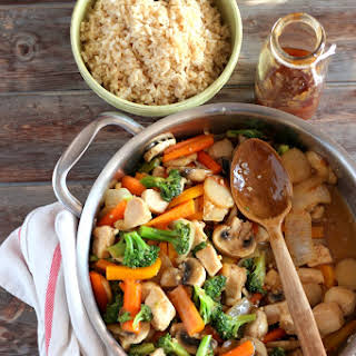 Healthy Chicken Teriyaki Stir-Fry + Brown Rice.