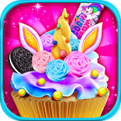 Unicorn Dessert Food Maker - Rainbow Cooking games