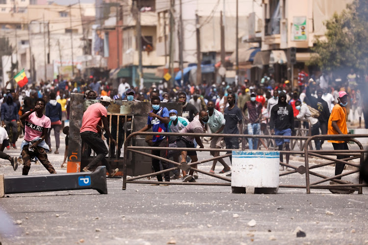 Supporters of opposition leader Ousmane Sonko clash with security forces in Dakar, Senegal, March 5 2021. Picture: REUTERS/ZOHRA BENSEMRA