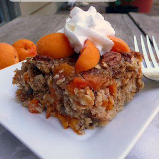 Apricot Date Nut Baked Oatmeal.