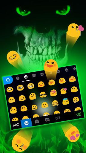 green horror devil keyboard -flaming skull screenshot 3