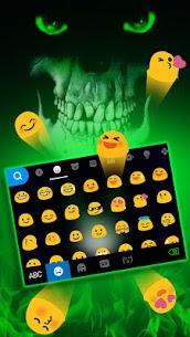 Green Horror Devil Keyboard -flaming skull 1.0 Unlocked MOD APK Android 3