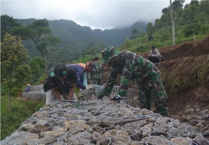 Suguhkan Keindahan Alam Pegunungan di Lokasi Pra TMMD ke 111 Kodim 0804/Magetan