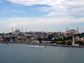 Photo: Great view of Istanbul old town from the ship leaving the port