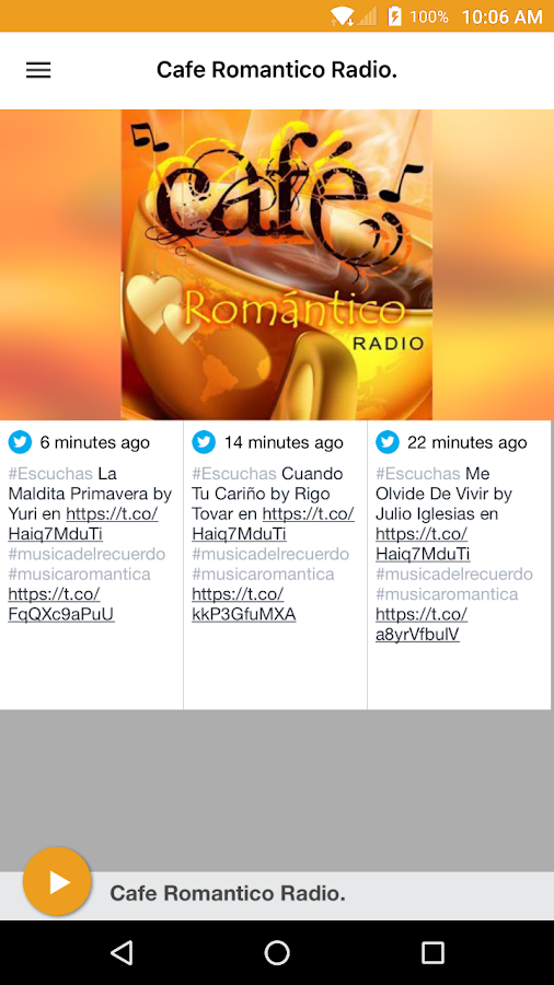 Cafe Romantico Radio- screenshot