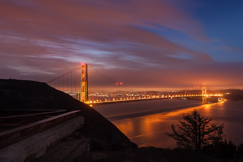 Photo: Awake  Had to de-saturate this one.... so much vibrant color on the bridge and sky this morning before sunrise. I love it when images need almost no processing.  Have you ever noticed that there are many more sunset pictures than sunrise pictures out there in the world? Wake up people!  ~joe #azure  #jazure  #ggb #goldengatebridge