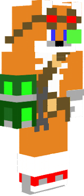 I like Tails more than Sonic, so I made my own Sonic Boom Minecraft Skin. The green device on the right arm is a arm cannon seen in the video: