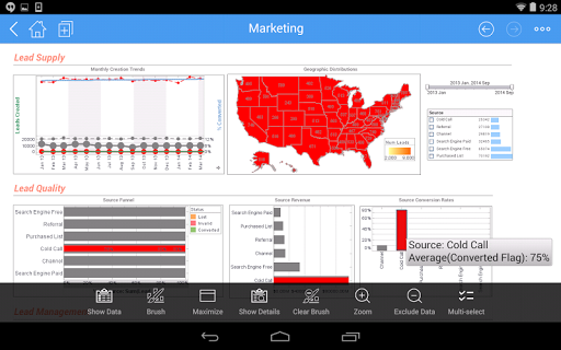 InetSoft Mobile Version 12.1 1.0.3 screenshots 12