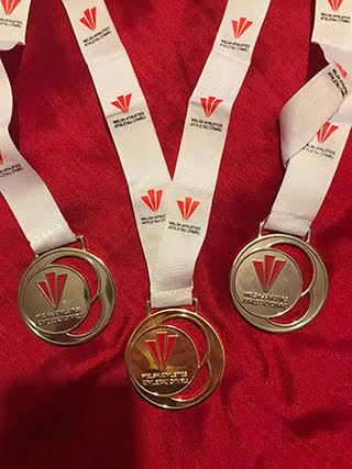 Medals for first 3