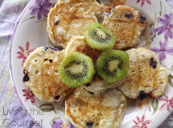 Blueberry Pancakes And Kiwis Recipe
