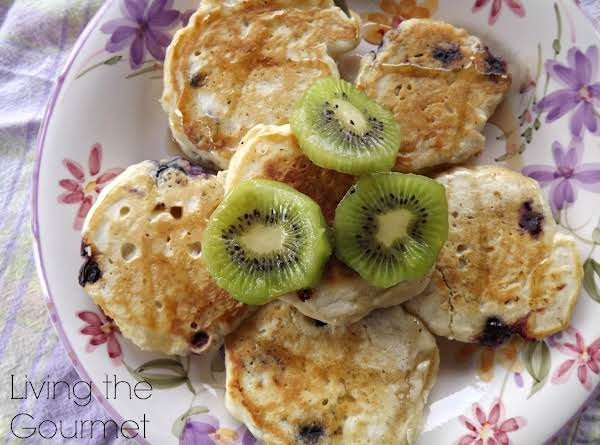 Blueberry Pancakes And Kiwis