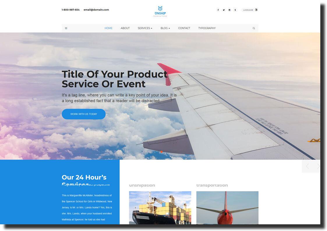 full-width website design template