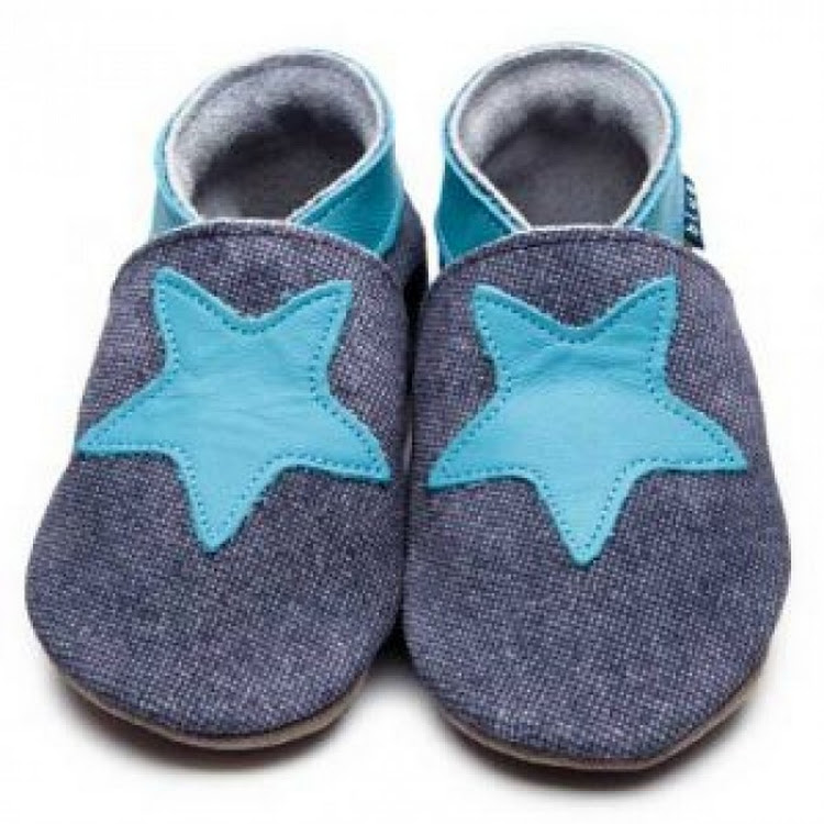 Inch Blue Soft Sole Leather Shoes - Starry Denim (2-3 years) by Berry Wonderful